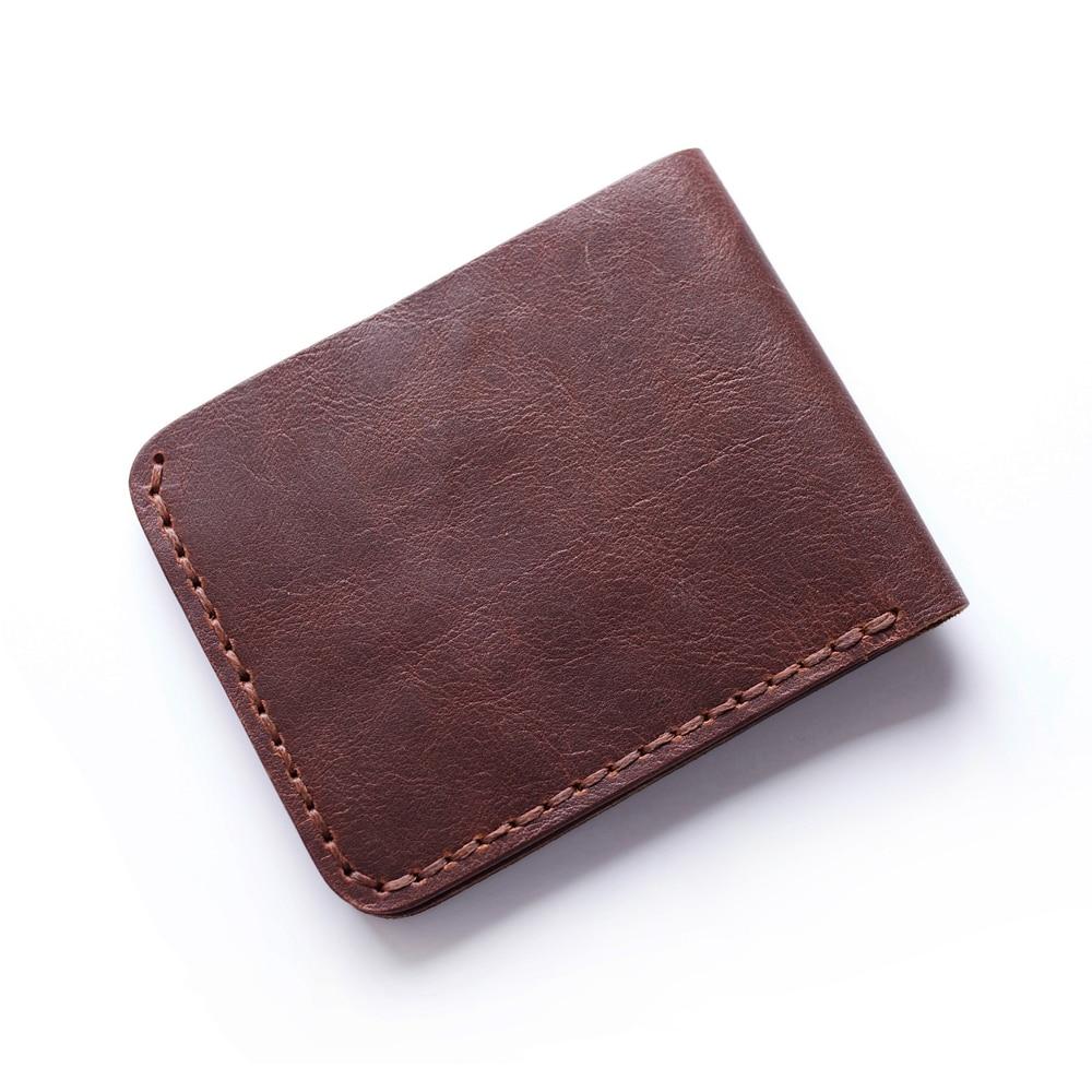 Äkta läder plånbok för män handgjorda vintage läder plånbok - Plånböcker - Foto 5