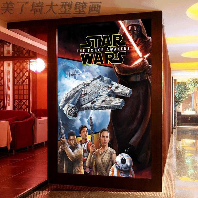 Custom 3d mural  star wars wallpaper cinema private shadow new movie poster wallpaper custom mural