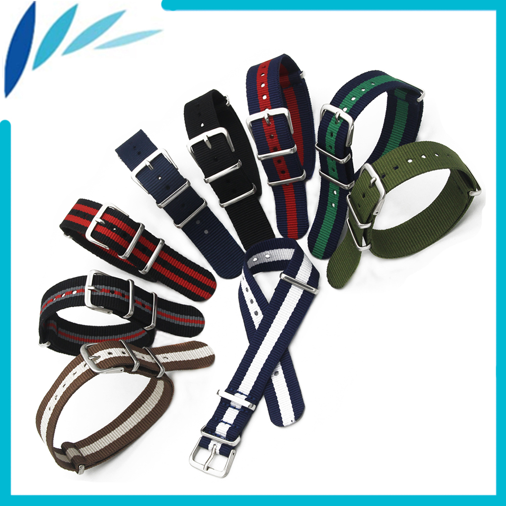 Nylon Watch Band 20mm for Luminox Watchband Stainless Steel Pin Buckle Strap Wrist Loop Belt Bracelet Black Brown Blue Green Red black 20mm band width rubber wrist watch band strap stainless steel pin buckle 2 spring bars