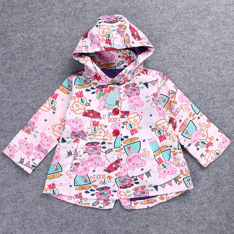 NEW clothes Pig Animation Cartoon cotton Lovely girl Hoodie Jacket Leisure time coat kids high quality