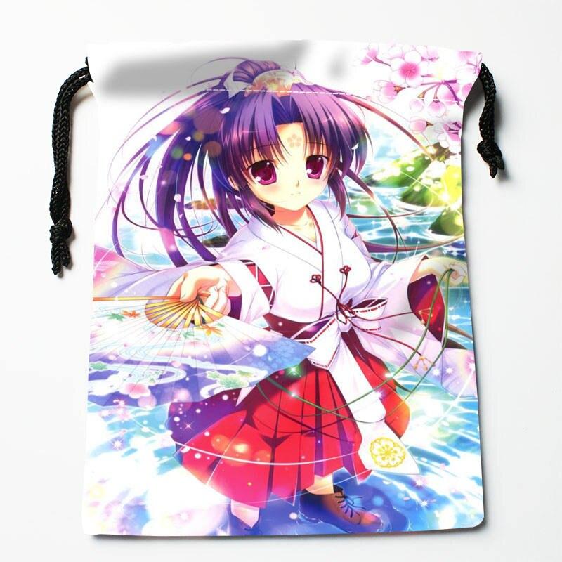 High Quality Custom Anime Printing Storage Bag Drawstring Bag Gift Satin Bags 27x35cm Compression Type Bags