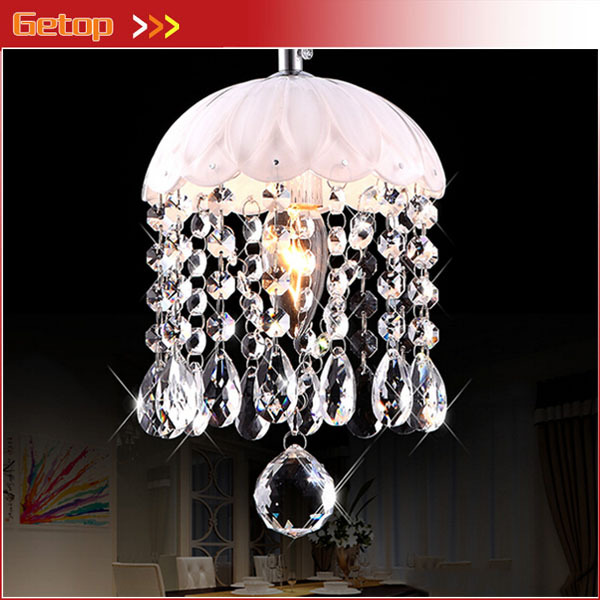 Best Price Crystal Chandelier Lighting Living Room Aisle Balcony Entrance Crystal Lamp White Restaurant Ceiling Lamp D15xH22cm