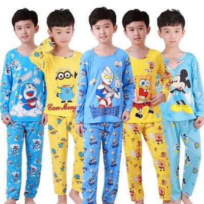 ada3beeb9370 Kids sleepwear cartoon pajama sets baby teenage boys girls pyjamas ...