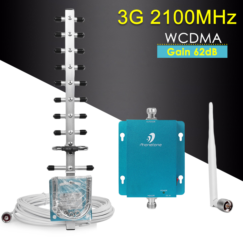 Repeater 3G 2100mhz Mobile Signal Booster WCDMA 3g Repeater Cellular Amplifier Signal Booster For Cellphone Band 1 3G Repeater