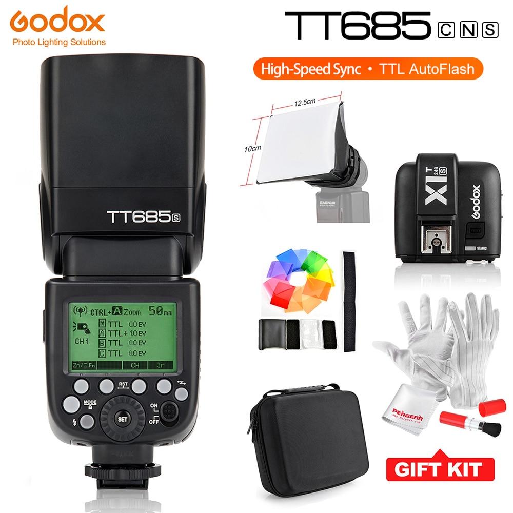 Godox TT685C TT685N TT685S X1T-C X1T-N X1T-S HSS 1/8000S TTL Camera Flash Speedlite 2.4G Trigger Transmission for Sony Canon godox tt685s gn60 1 8000s hss ttl speedlite flash light godox x1t s wirless flash trigger mi shoe for sony dslr