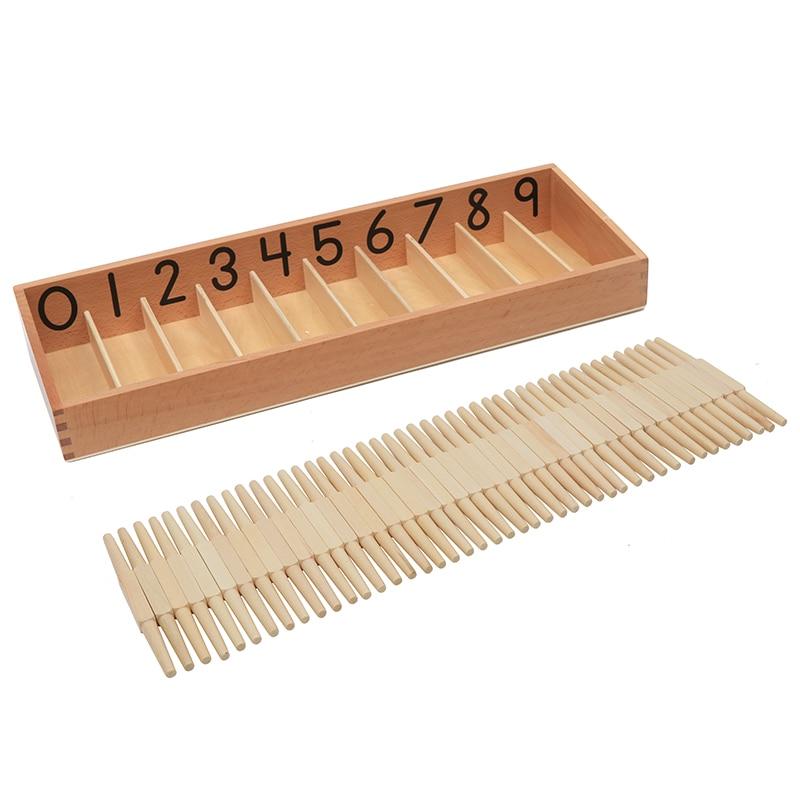 Jouet bébé Montessori boîte de broche Standard avec 45 broches apprentissage des maths et éducation tige de broche enfants jouets Brinquedos Juguetes - 2