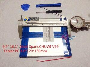 """Image 3 - 3.7 V 10000 mAH (実容量) リチウムイオン電池セルのための 9.7 """"10.1"""" Ainol スパーク、 CHUWI V99 タブレット PC 4.0*120*130 ミリメートル"""