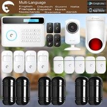 Chuangkesafe eTIGER GSM/PSTN Охранной Охранная Система Для Дома/Офиса Wi-Fi Сетевая Камера + ИК-Луч Motion Detector 100 М