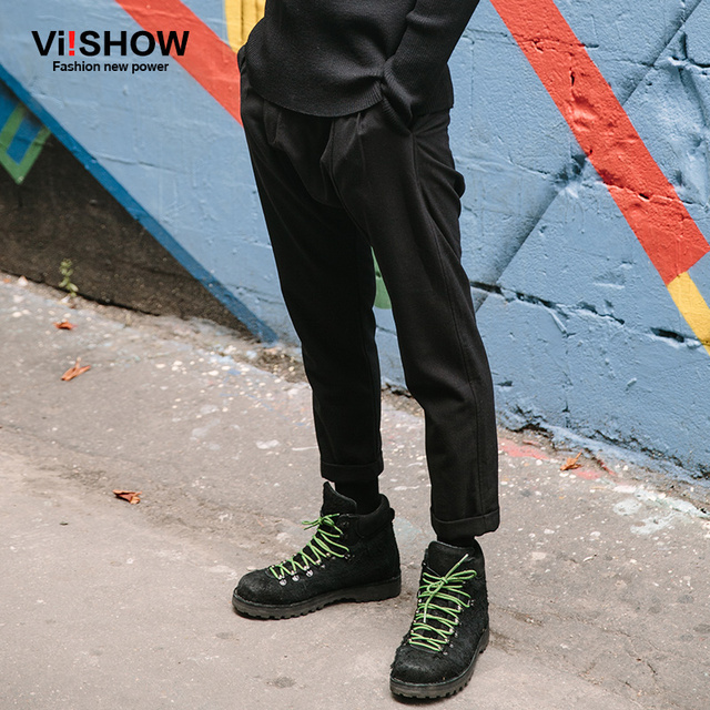 Viishow Brand Mens Dress Pants Hip Hop Streetwear Pants Men Casual Trousers Sweatpant For Men pantalones hombre Black Plus size
