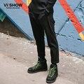 Viishow Marca Mens Vestido Calças Calças Dos Homens Calça Casual Calças Hip Hop Streetwear Sweatpant Para Homens pantalones hombre Preto Plus Size