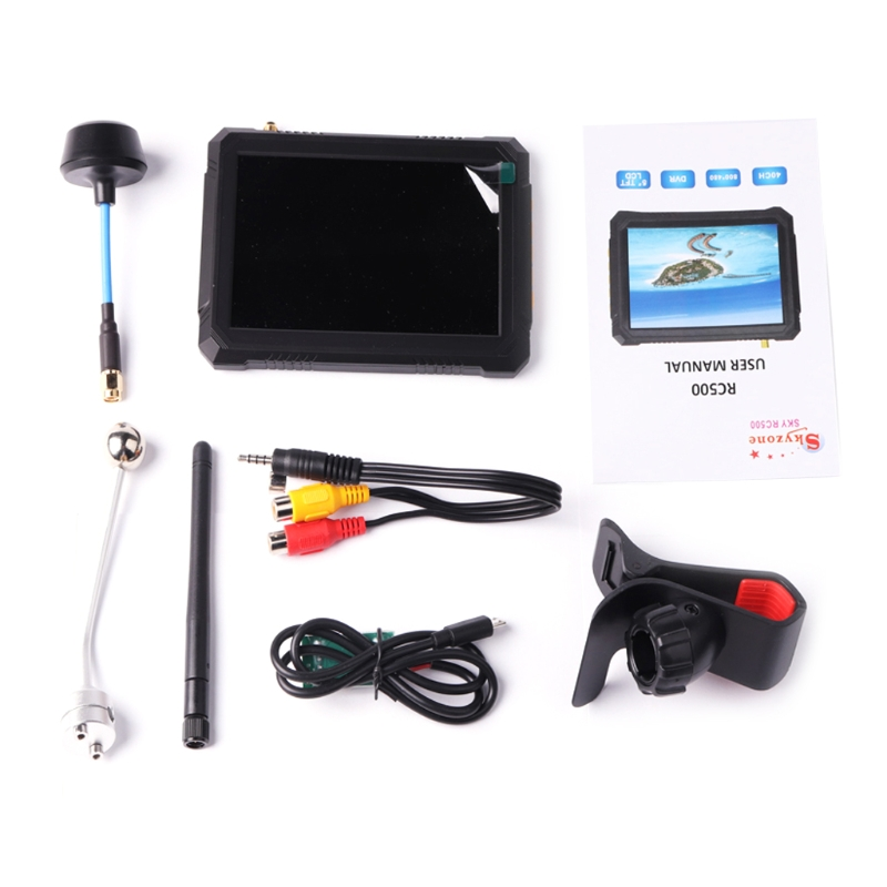 5'' 5.8G 40CH For Raceband FPV Monitor With DVR Build In Battery Toy UAV camera display