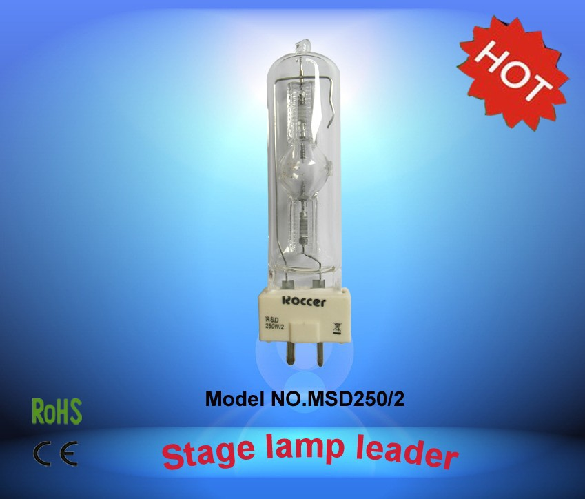 ROCCER MSD250W 2 GY9 5 Metal Halide Lamp msd250w for 250W Moving Head 8000k msd250 2