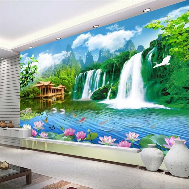 Beibehang Kustom Wallpaper Pemandangan Indah Pemandangan Indah Ruang Tamu Kamar Tidur Dinding TV Latar Belakang Dekorasi