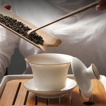 150ml Zen Japanese Style Gaiwan Kung Fu Tea Set Boutique Handmade White Porcelain Master Cup Ceramics Teapot Creative Home Decor