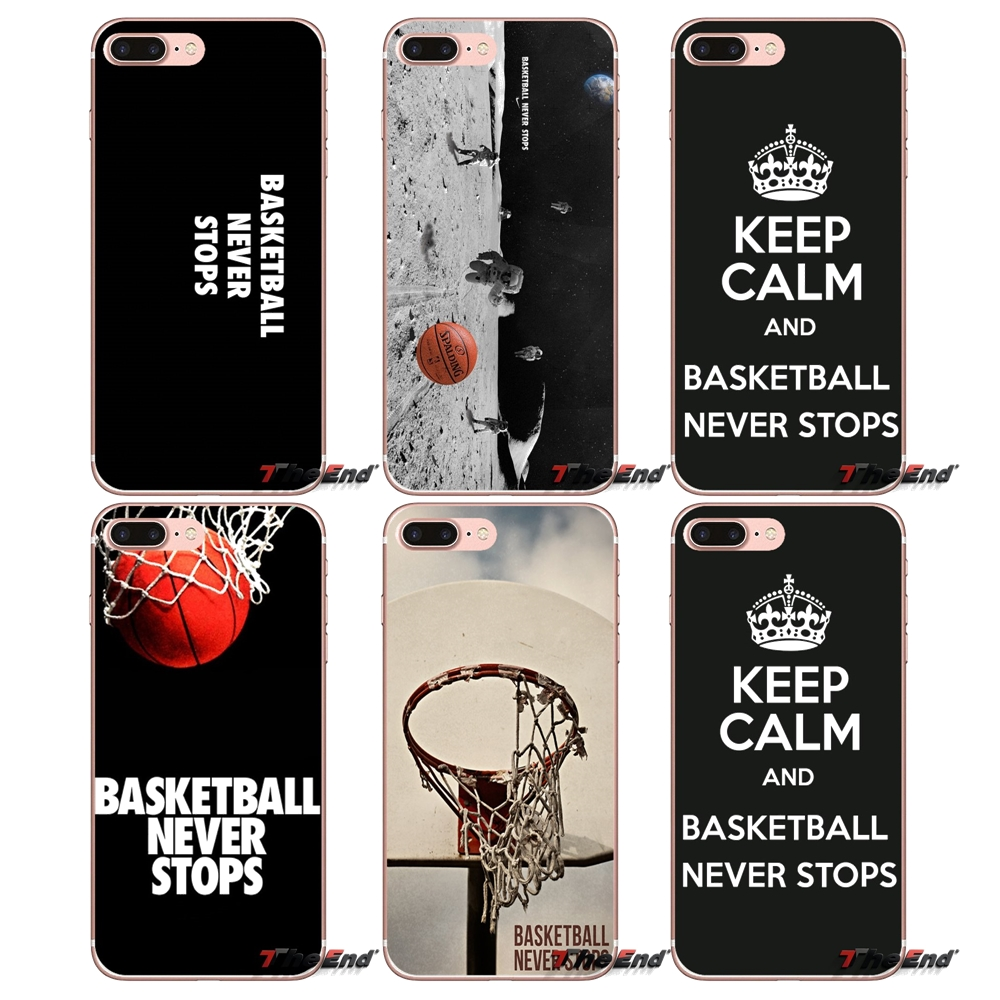 the best attitude 8dd59 4f52e US $0.99 |Fans Basketball Never Stops Silicone Case For iPhone X 4 4S 5 5S  5C SE 6 6S 7 8 Plus Samsung Galaxy J1 J3 J5 J7 A3 A5 2016 2017-in ...