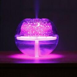 500 ml nawilżacz powietrza USB OLEJEK ETERYCZNY aroma dyfuzor ultradźwiękowy nawilżacz domowego kolorowe led noc światło dla domu biura