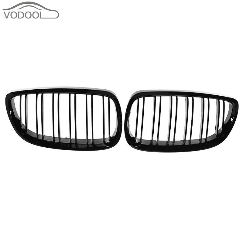 1 пара автомобиля передняя ноздри для BMW E92 E93 316i 320d 320i 323i 325d 325i 330i 06-10 автомобилей гонки гриль черный аксессуар