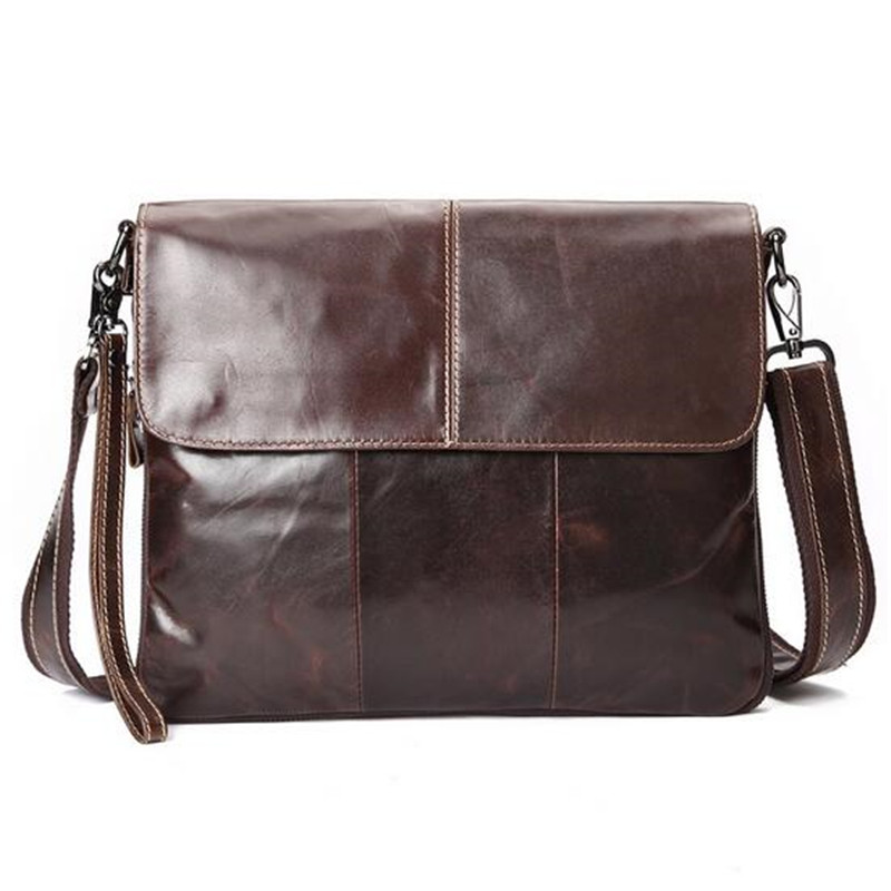 100% first layer of leather man business bag retro oil wax leather shoulder bag Mobile Messenger man bag  trend hot leather handbag shoulder bag casual first layer of leather men s oil wax messenger bag korean man bag tide