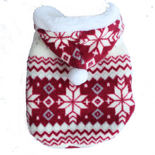 Hot Soft Winter Warm Pet Dog Clothes Cozy Snowflake Costume Clothing Jacket Teddy Hoodie Coat
