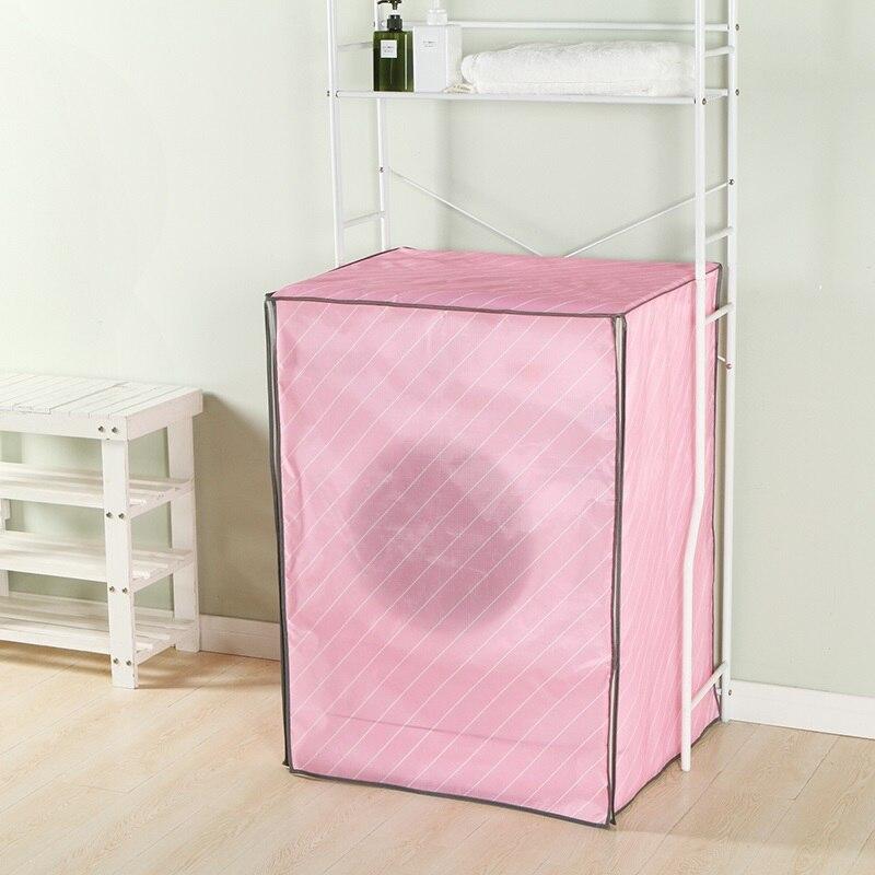 Купить с кэшбэком Small and fresh twill style Waterproof Sunscreen Washing Machine Cover Waterproof Case Washing Machine Protective Dust Jacket