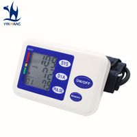 Health Care Digital Automatic Upper Arm Blood Pressure Equipped With Adaptor Monitor Blood Pressure Gauge Blue
