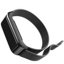 Moda Feminina Pulseiras Inteligente IP67 À Prova D' Água Heart Rate Monitor de Fitness Rastreador Relógio tira de Aço Pulseira Para IOS Aandroid