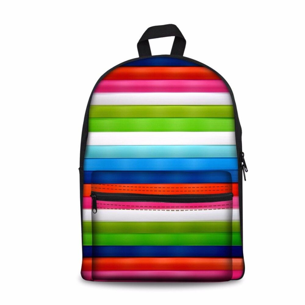 Customized Image Children School Bags 3D Striped Denim Printing Travel Bag School Backpack Teenage Girls Boy Daily Backpack Bag
