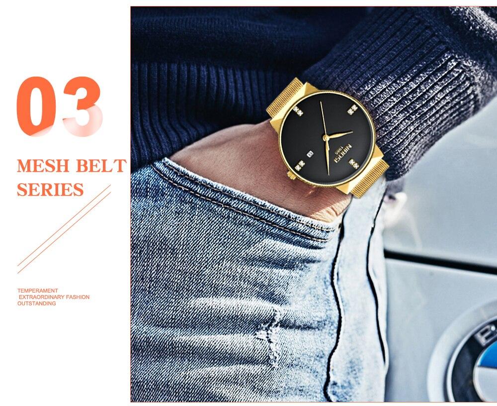 NIBOSI 2018 New Fashion Simple Watch Slim Mesh Band Mens Dress Watches Top Brand Luxury Male Relogio Masculino Quartz Wristwatch (16)