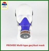 PROVIDE Respirator Mask Respirator Mask Silica Gel Dustproof Gas Masks Boxe Industrial Safety Chemical Gas Mask