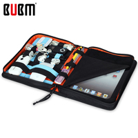 BUBM Carrying Tablet Case USB Flash Drive Cable Organizer Bag For iPad mini or iPad 2 3 4  Air Air2  business style