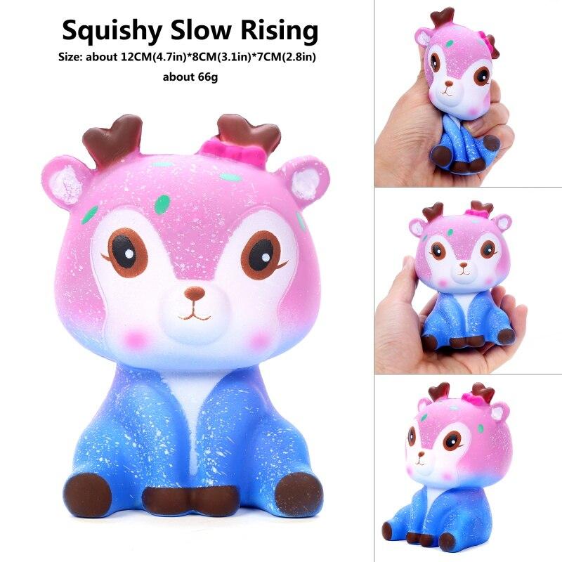 Antistress Squishes Animal Unicorn Panda Deer PU Kawaii Squish Doll Stress Reliever Hot Kid Soft Toy For Child Original Squishy