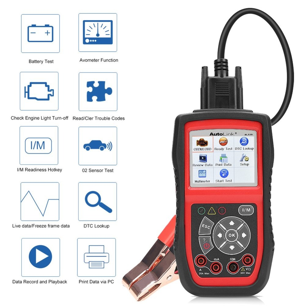 Image 5 - Autel AutoLink AL539B Auto Code Reader OBDII Diagnostic Tool OBD2 Scanner Electrical Tool Test Battery Test AVO Meter PK AL519