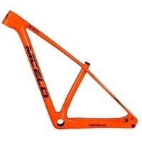 2018 MCELO Orange carbon mtb frame matte 29er mtb carbon frame 29 carbon mountain bike frame 148*12mm thru axle bicycle frame