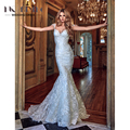 2017 New High Quality Customized Bridal Mermaid Dress Wedding Dresses Series Elaborate Lace Detachable Train Vestidos De Novia