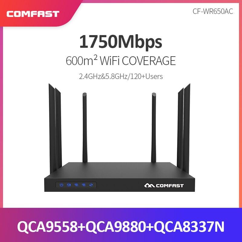 1750 Мбит/с Comfast WR650AC Dual Band 2,4 г + 5 беспроводной 6 * 6dBi Съемная антенна Wi Fi Ретранслятор удлинитель сетевого кабеля гигабитный маршрутизатор Booster