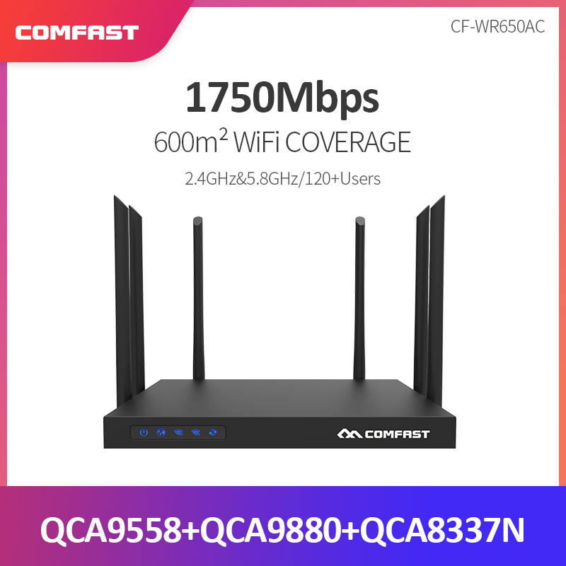 1750 Mbps Comfast Wr650ac Dual Band 2,4g + 5g Wireless 6 * 6dbi Abnehmbare Antenne Wifi Repeater Lan Extender Gigabit Router Booster