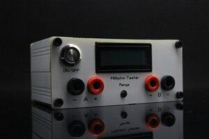 Image 2 - Milliohm metre yüksek hassasiyetli dijital mikro ohm direnç test aleti LCD ekran dört telli testi + Kelvin klip DC 12V güç
