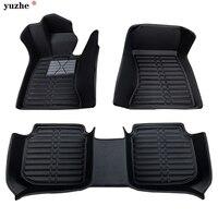 Yuzhe пользовательские автомобильные коврики для Volkswagen Golf, Volkswagen Polo тигуан Жук Bora Magotan кожа 3d коврики для багажника напольные вкладыши