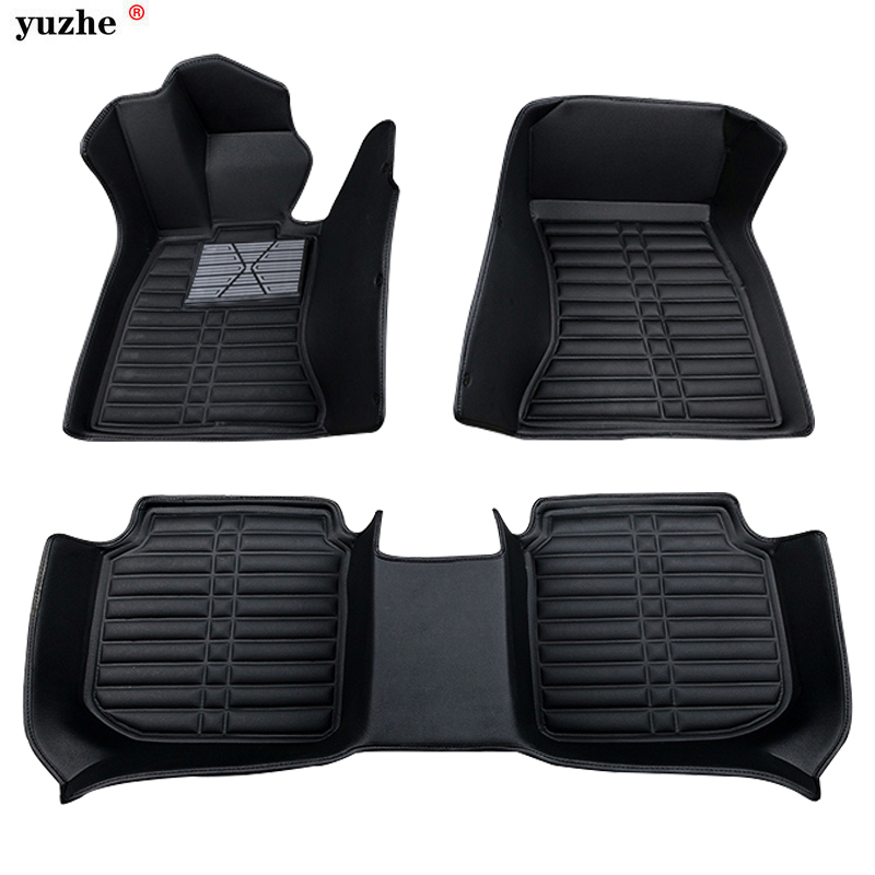 Yuzhe Custom car floor mats for Volkswagen vw Golf Polo Tiguan Beetle Bora Magotan leather 3d floor mats cargo mats floor liners