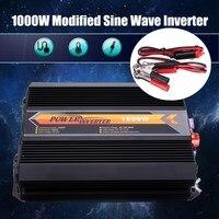 Инвертор макс 2000 Вт 1000 Вт 12 В переменного тока 220 вольт ЖК дисплей цифровой USB модифицированный синус преобразователь волна автомобиля конве