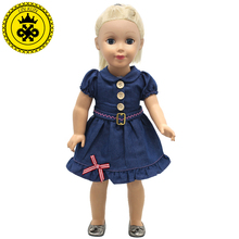 American Girl Doll Clothes Handmade Suspender Cowboy Dot 3 Style Skirt For 18 inches American Girl
