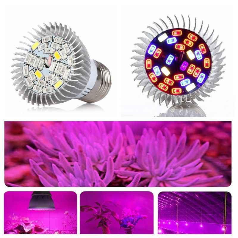 Full Spectrum GU10 E27 Led Grow Light 18 28leds SMD5730 Red Blue UV IR Led Growing Lamp For Hydroponics Flowers Plant Vegetable