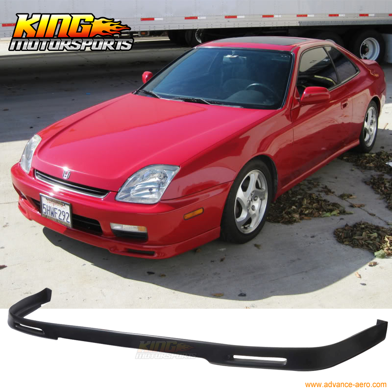 for 97 01 honda prelude p1 style black pu front bumper lip spoiler bodykit in license plate from. Black Bedroom Furniture Sets. Home Design Ideas