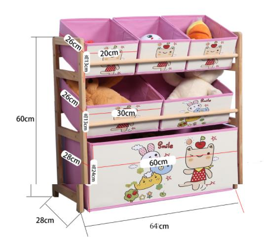 Louis Fashion Children Cabinets Solid Wood Toys Storage Finishing Shelves Children's Household Toys Storage #5