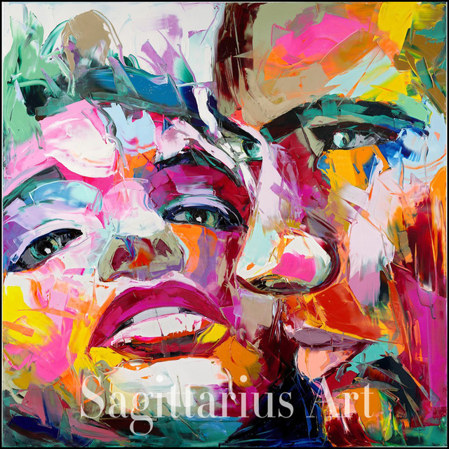 hand painted abstract love from the francoise nielly knife palette