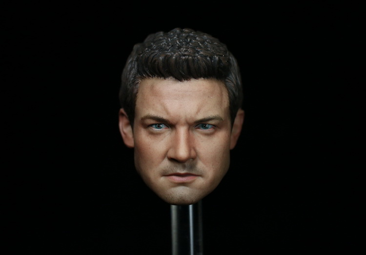 Brand New 1/6 Scale Avengers: Age of Ultron HAWKEYE Clint Barton (Jeremy Renner) Head Sculpt For 12'' Action Figure Model Toy brand new 1 6 scale avengers age of ultron hawkeye clint barton jeremy renner head sculpt for 12 action figure model toy