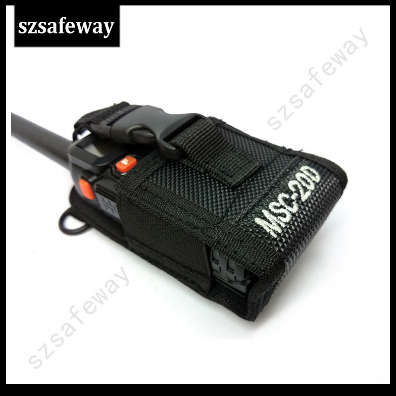 MSC-20D Walkie Talkie Leather Case Carry Case Walkie Talkie Bag For Baofeng UV-5R  For Yaesu Wouxun  Puxing For Kenwood