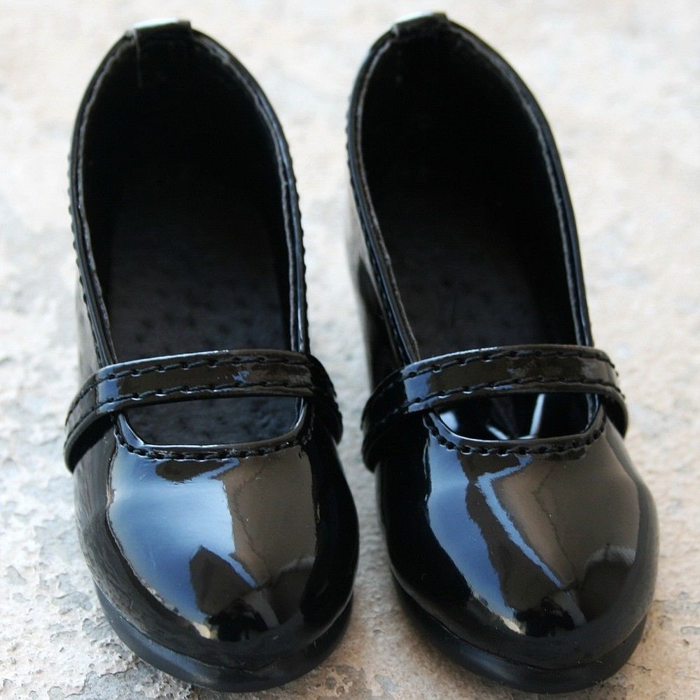[wamami] New Black Cute 1/4 DZ MSD BJD Dollfie Synthetic Leather Shoes forest retro uniform shoes 3colors for bjd 1 4 msd 1 3 sd10 sd13 super dollfie luts dod as dz doll shoes sw5
