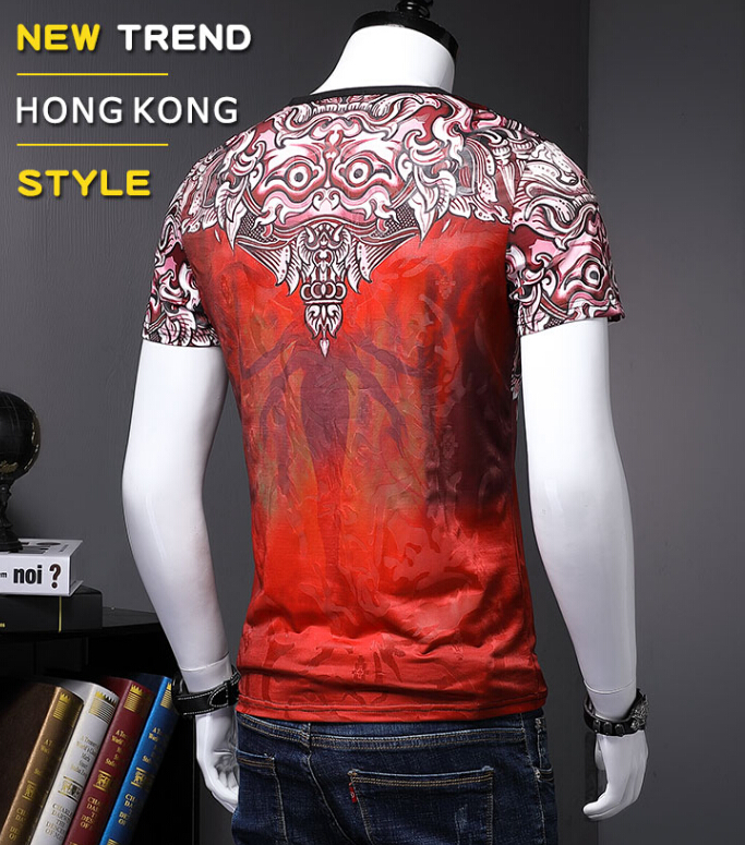 Hip Hop Casual Short Sleeve T Shirt O Neck Cotton t shirt Tops Tees men luxury brand high quality S985-in T-Shirts from Men's Clothing on Aliexpress.com | Alibaba Group 3