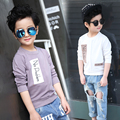 Children's Boys Clothing 2017 Spring Children's Clothing Personalized Letter Print t-shirt Soft Cotton Material t Shirt